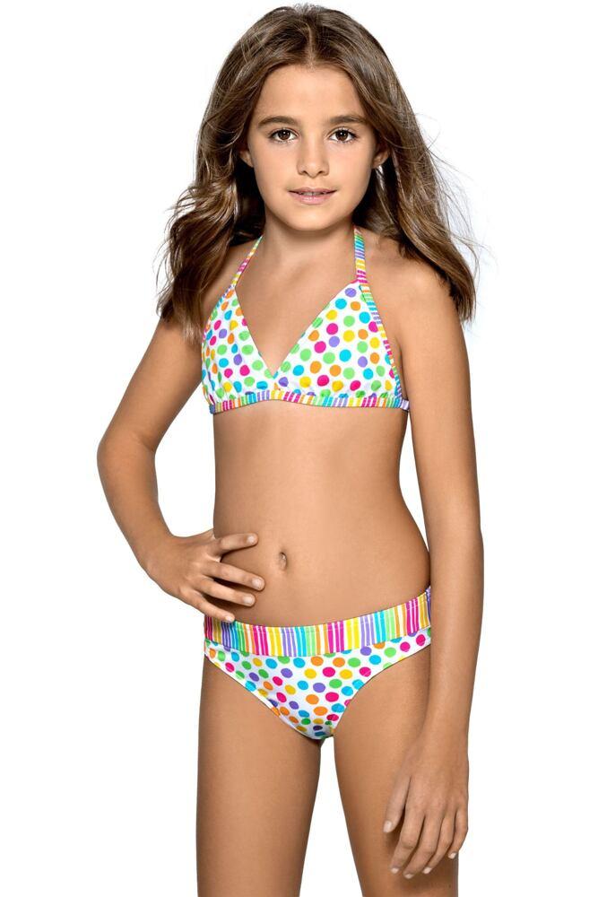 Dívčí plavky Viky puntíkované velikost 146