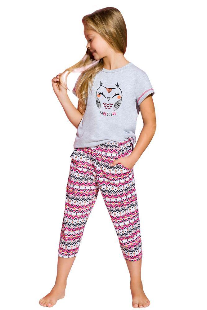 Dívčí bavlněné pyžamo Beky sovička velikost 122