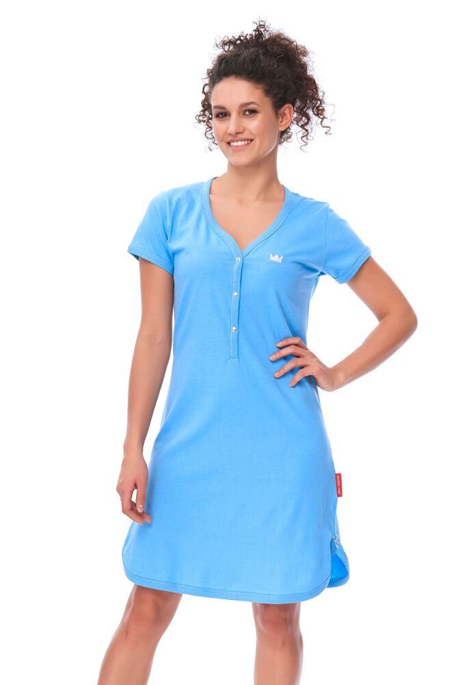 Dámská bavlněná noční košile Lor modrá velikost S