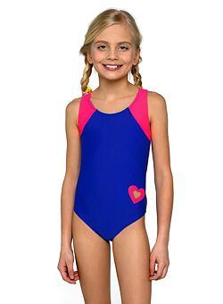 019c209be506 Nové Dívčí jednodílné plavky Eliška modrorůžové