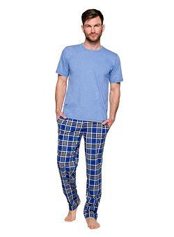 Nové Pánské pyžamo Jeremy modré d5018d2c94