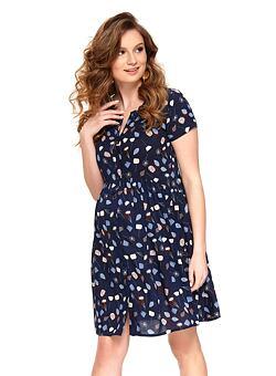 1b99b91b6e Nové Doprava zdarma Letní mateřské šaty Ivona tmavě modré
