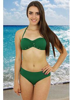 a96e7f78d45 -46% Dvoudílné zelené plavky Rock Star
