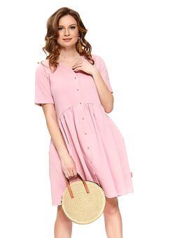 0a9a9c83d5 Nové Doprava zdarma Bavlněné mateřské šaty Anna růžové