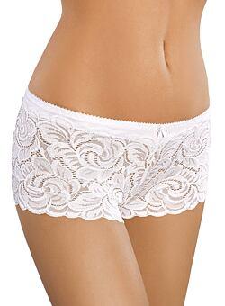 Bavlněné dámské krajkové boxerky 52 bílé 4e44a836bf