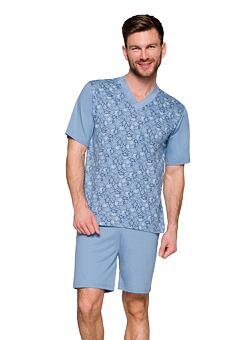 Nové Pánské pyžamo Roman modré šipky c9cde3d777