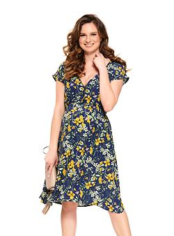6d8de7ac7c Nové Doprava zdarma Letní mateřské šaty Marcela modré