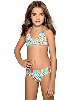 142fa5e2d1f Dívčí plavky Viky puntíkované